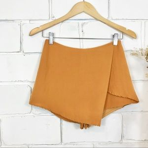 Asymmetric Wrap Skort Orange Small